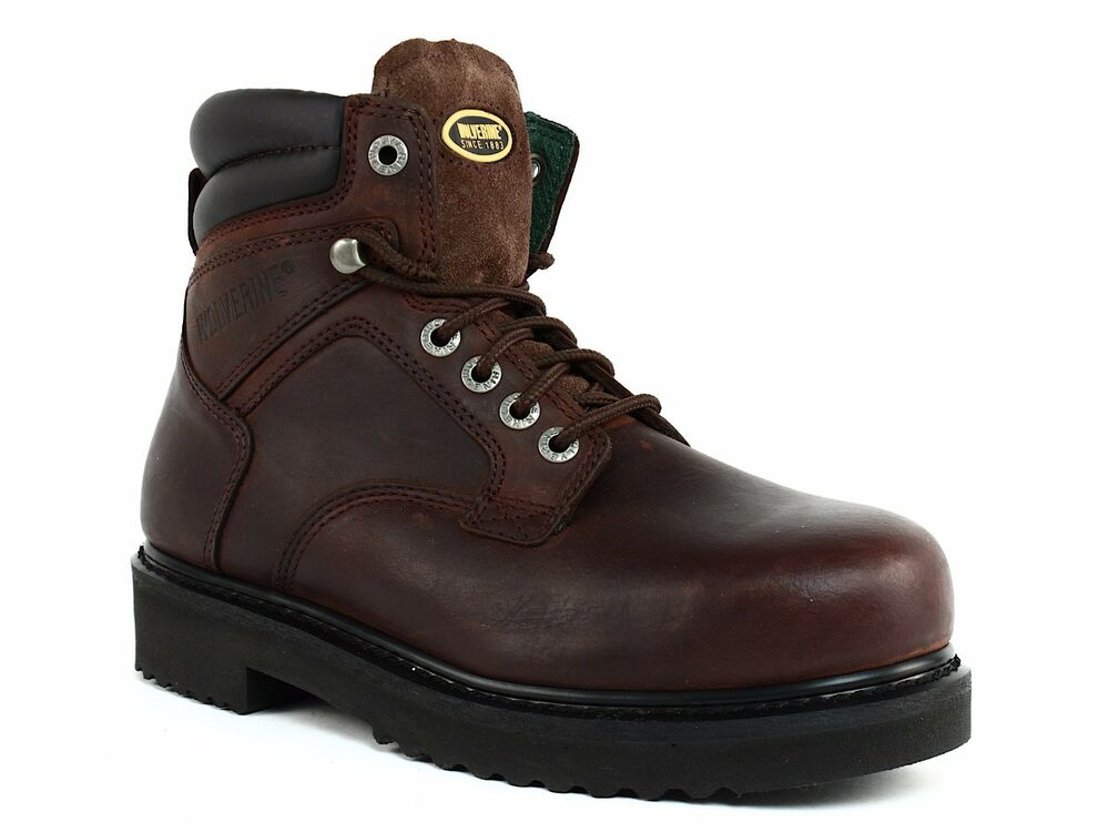 8b1458e590d Wolverine W03150 Steel Toe EH Mens Ankle Work Safety Park Brown Leather  Boots | eBay