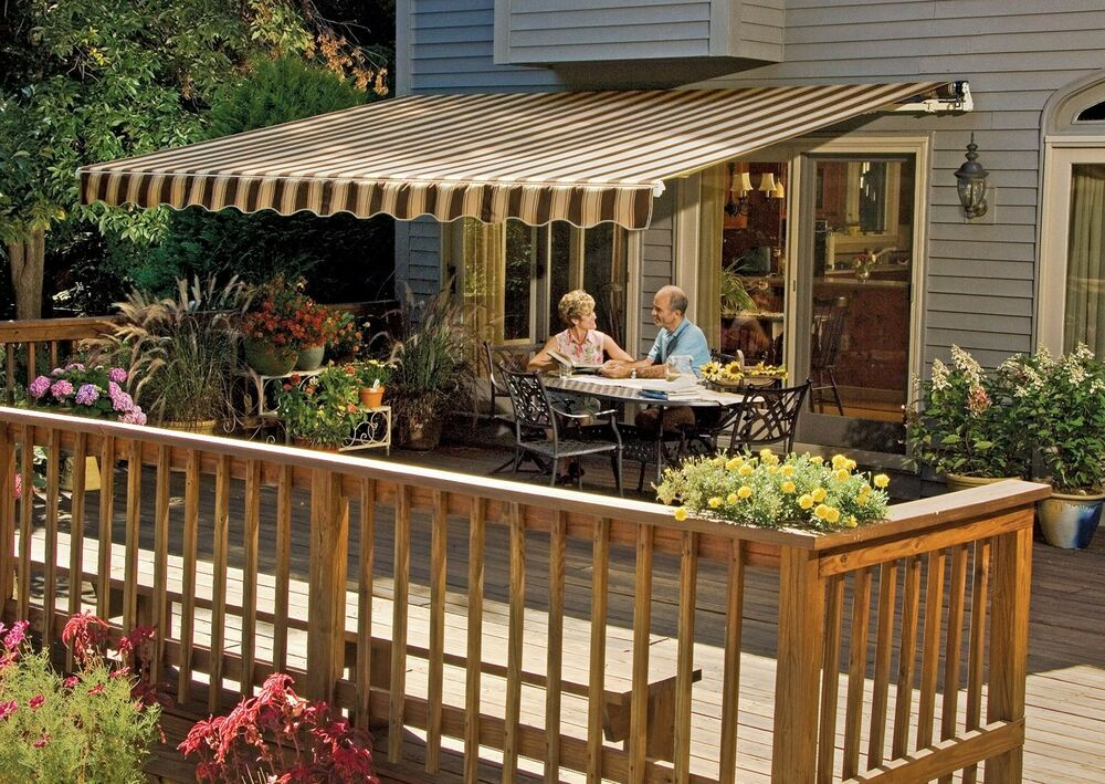 16 ft. SunSetter Motorized Retractable Awning, Outdoor ...