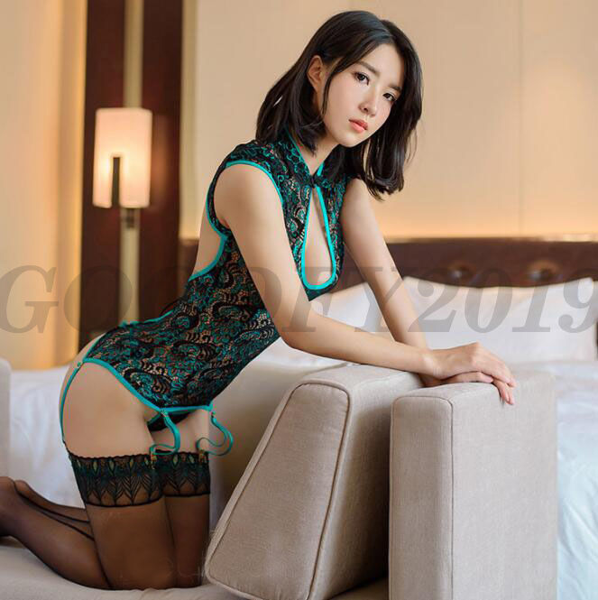Hot Sexy Chinese 3d Flowers Twinkle Style Lingerie Silk