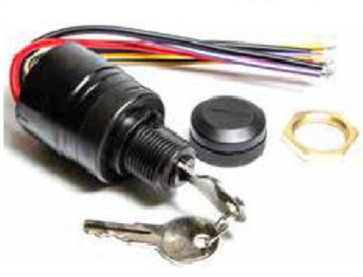 Mercury Ignition Key Switch with Push to Choke Replaces 87
