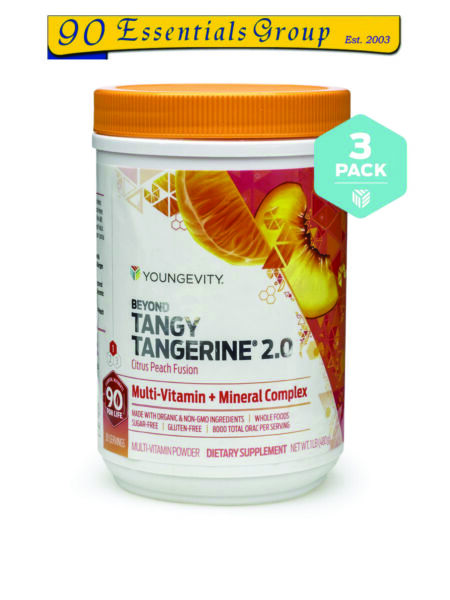 Beyond Tangy Tangerine 2.0 Peach Fusion (3- 480g Canisters) by Youngevity
