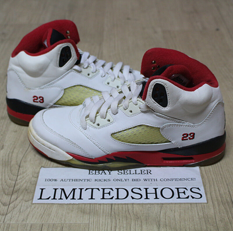 the latest cb3e8 2d9bf Details about 2006 NIKE AIR JORDAN 5 V RETRO GS WHITE FIRE RED 134092-161  US 6Y SIZE