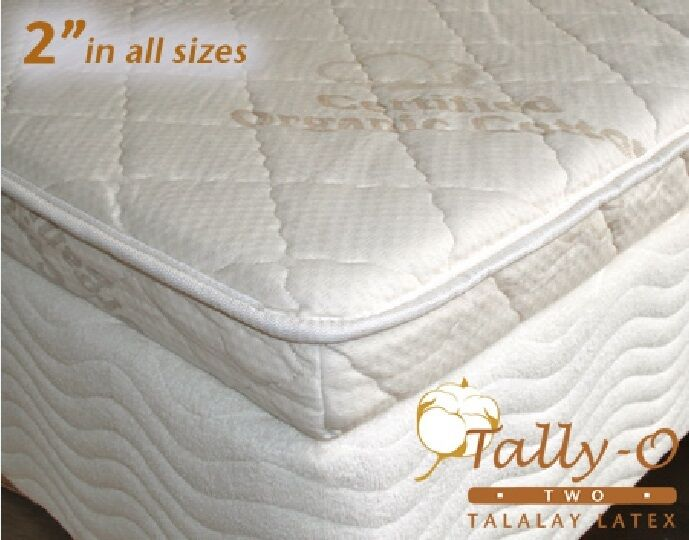 New Queen Tally O Talalay Mattress Pad With Quilted