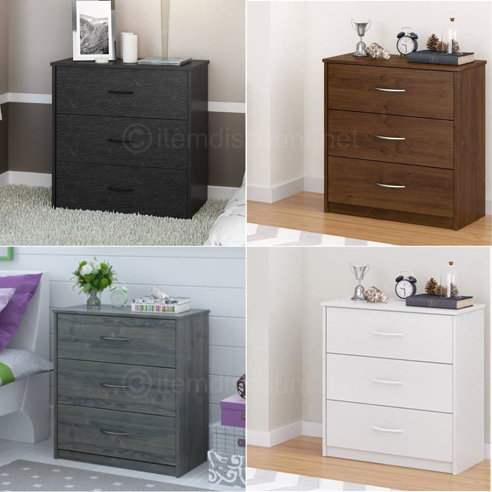 bedroom dressers and chests mainstays 3 drawer chest dresser bedroom furniture 14276 | s l1000