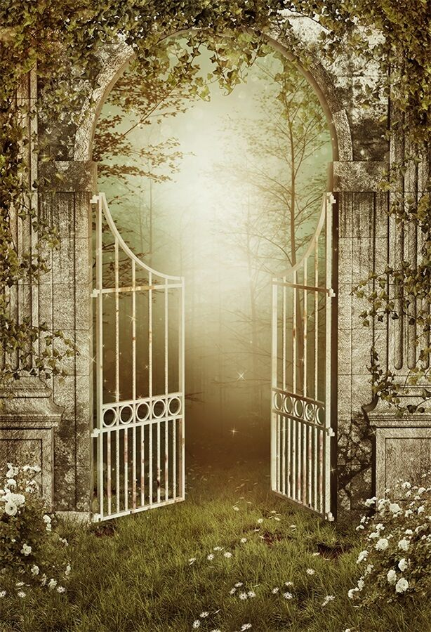 Retro Garden Gate Photography Backgrounds 3x5ft Vinyl Hd