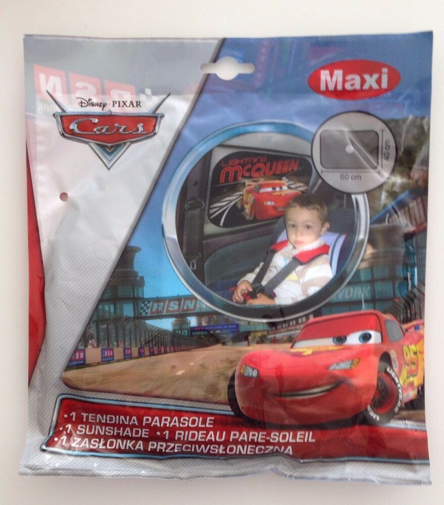 pack de 2 rideaux pare soleil vitre voiture protection bebe enfant disney cars ebay. Black Bedroom Furniture Sets. Home Design Ideas