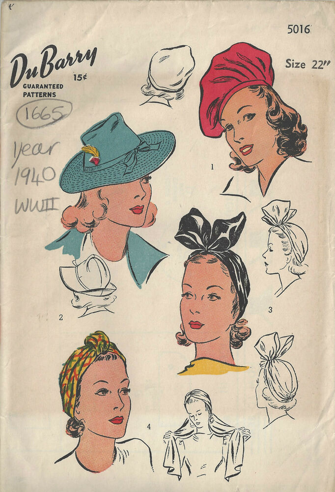 Details about 1940 WW2 Vintage Sewing Pattern S22