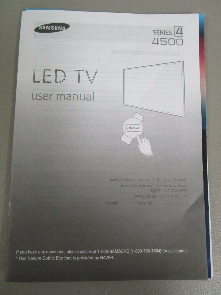 User Manual Samsung Tv 1 Manuals And User Guides Site