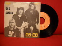 1971 THE SWEET Co-Co / Done Me Wrong 7/45 RARE PORTUGAL UNIQUE PS GLAM ROCK