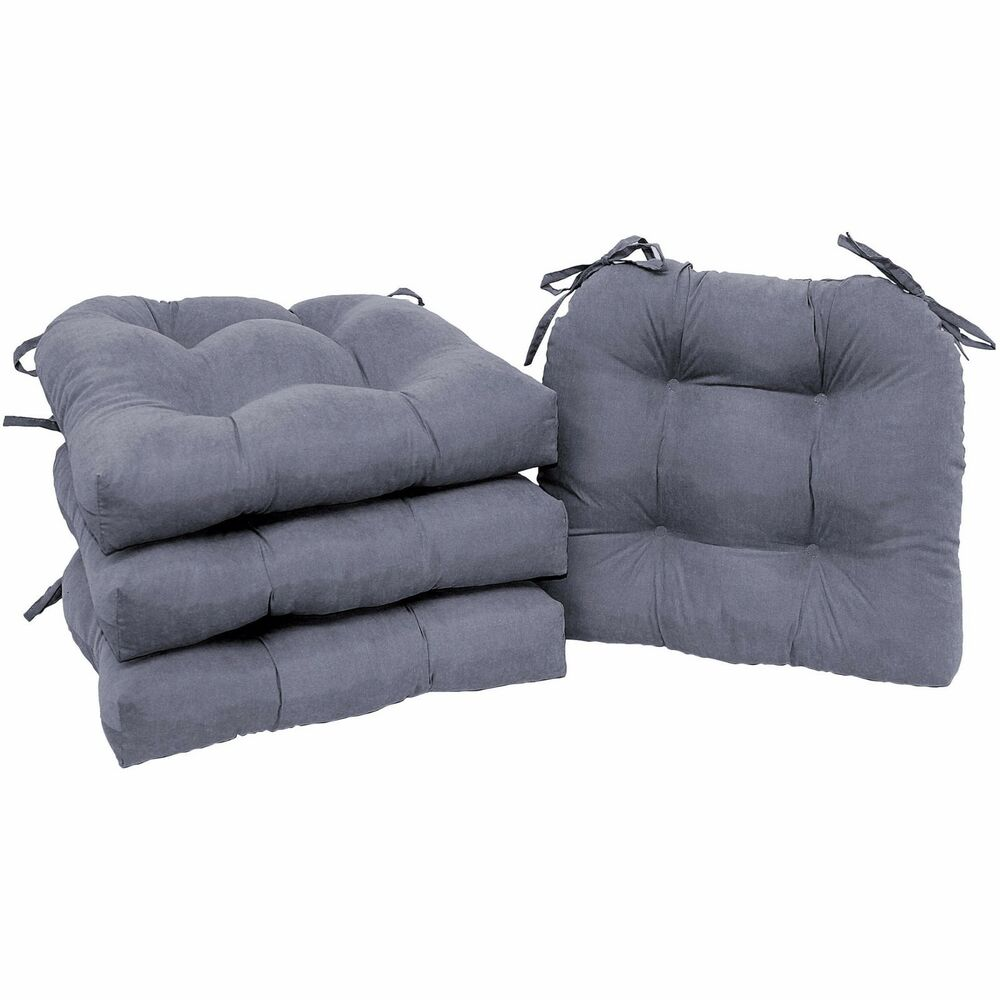 Outdoor Patio Furniture Pads: Chair Cushion SET Of 4 Pad Seat Patio Outdoor Garden