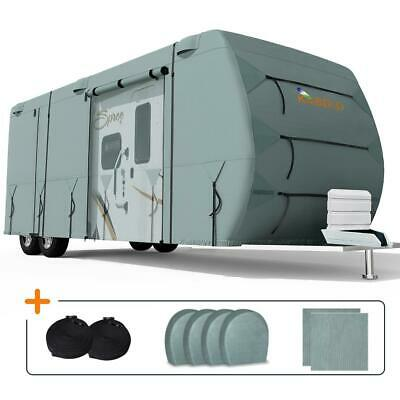 KING BIRD 20'-22 Extra-thick 4-Ply Camper Travel Trailer RV Cover & 4 Tire Cover