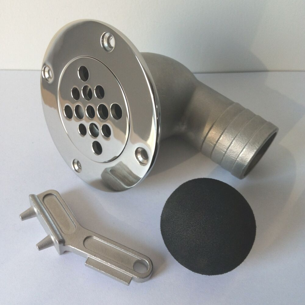 Boat Deck Drain Scupper W Key Amp Ball For Hose 1 1 2