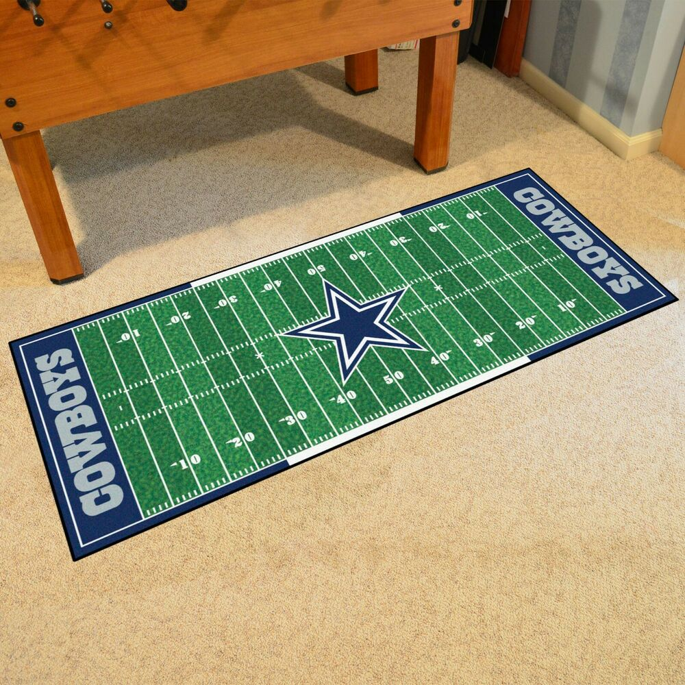 "Nfl Area Rugs: Dallas Cowboys 30"" X 72"" Football Runner Area Rug"