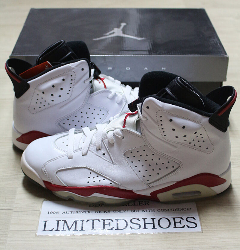 1ad03e95f0e18a Details about NIKE AIR JORDAN 6 VI RETRO WHITE VARSITY RED BULLS 384664-102  US 9 maroon black