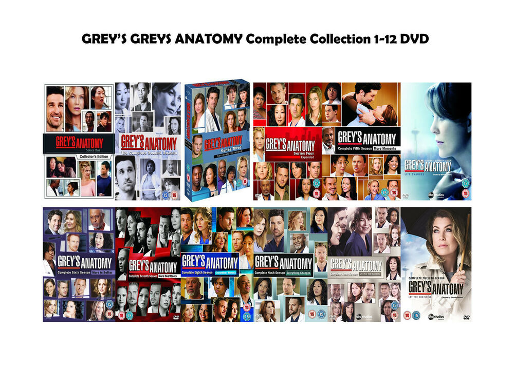 GREY\'S GREYS ANATOMY Complete Collection 1-11 DVD Box Set All ...