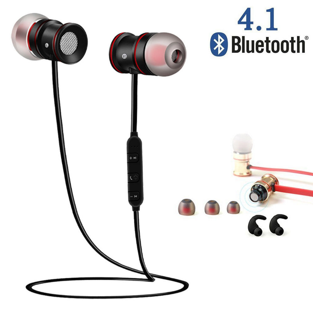 f43e6adc3dd Details about Wireless Sports Bluetooth V4.1 Headphone Magnet In-Ear Earbuds  Headset Earphone