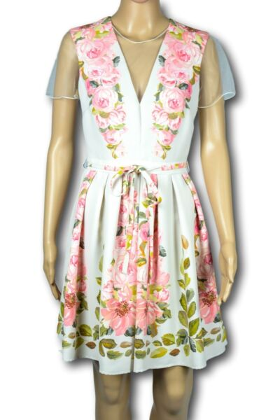 BLUMARINE BLUGIRL Abito Vestito Donna Woman Dress Floreale Flowers TG. 40