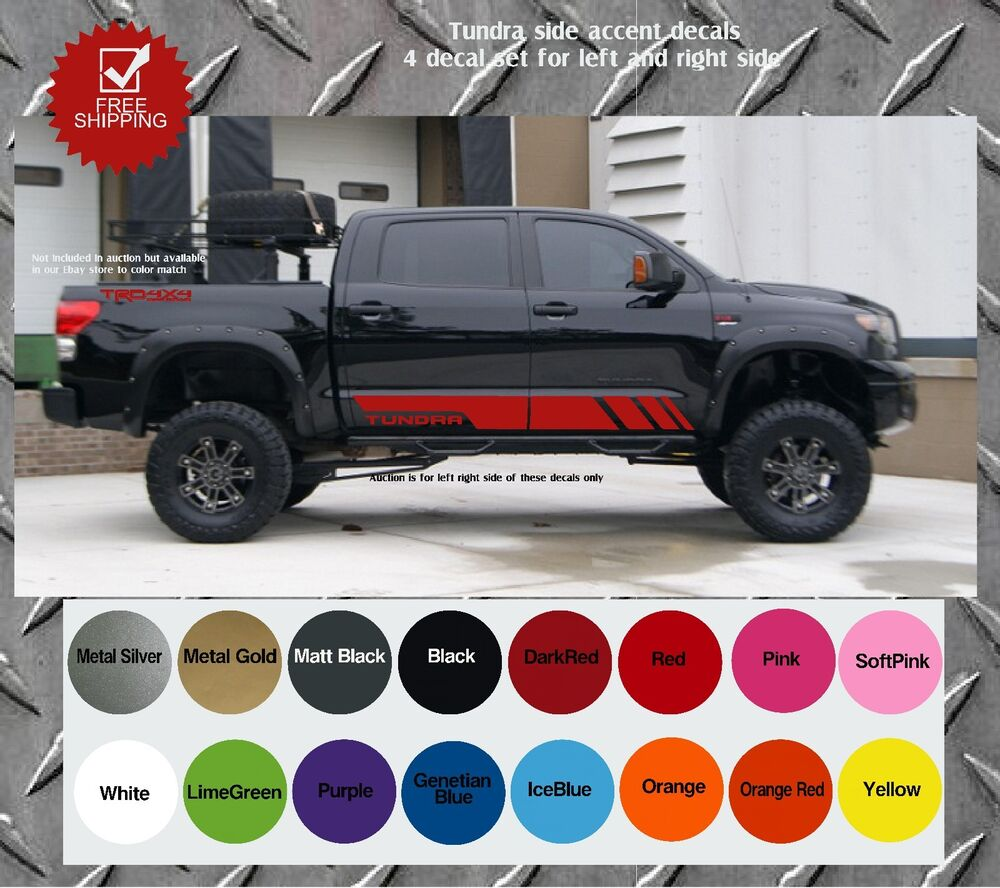 Toyota Tundra Truck Bed Side Decals Graphics Decals Ebay