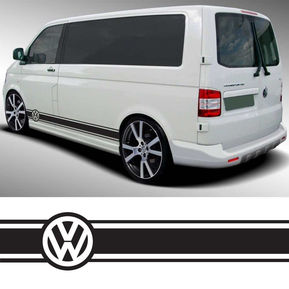 vw transporter camper van caravelle stripes graphics decals stickers t4 t5 caddy ebay. Black Bedroom Furniture Sets. Home Design Ideas