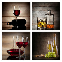 Canvas Prints Painting Picture Wall Art Home Room Kitchen Decor Wine Photo Brown