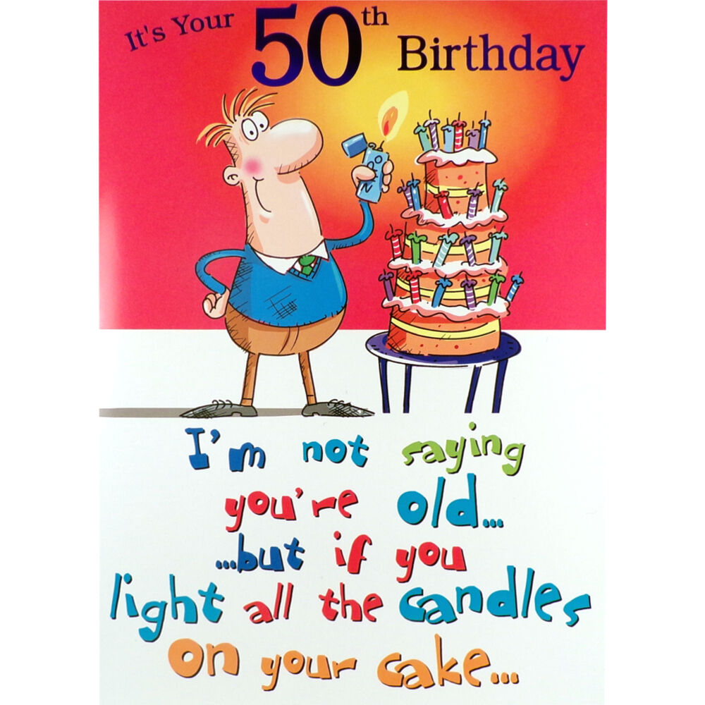 50th birthday card funny rude humorous male happy