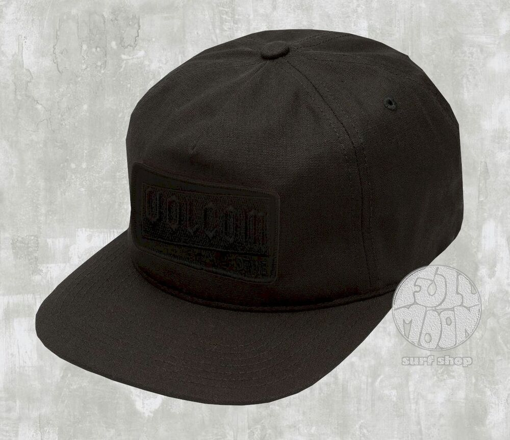 best service d83d9 8787f Details about New VOLCOM Rotor Black Mens Snapback Cap Hat