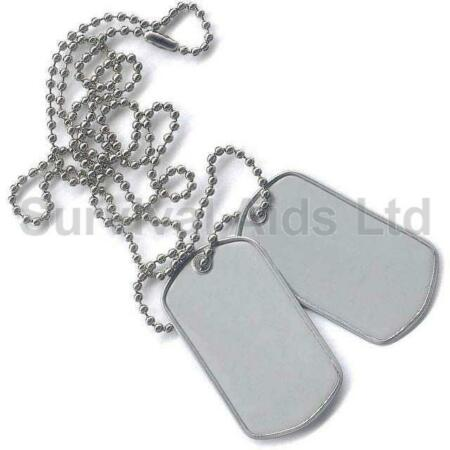 img-Chrome Military Dog Tag Set