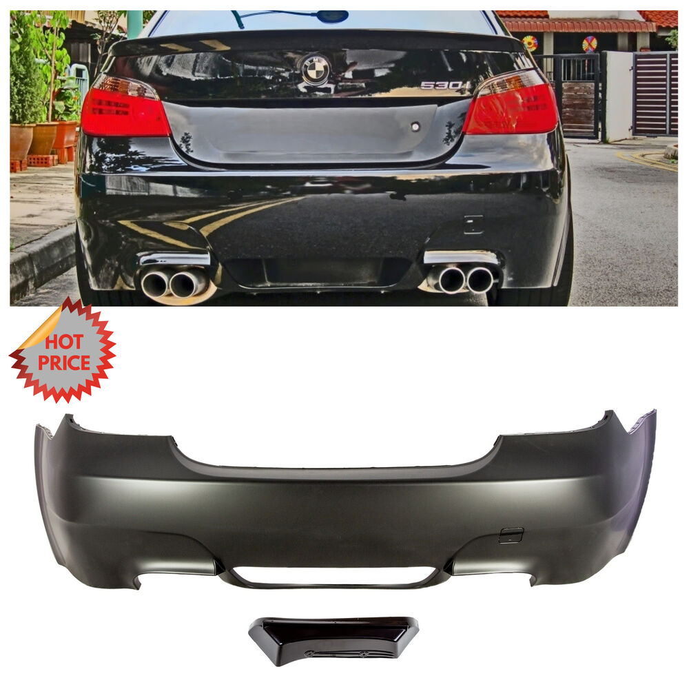 2004 10 bmw e60 m5 style rear bumper quad exhaust cutout for e60 5 series no pdc ebay. Black Bedroom Furniture Sets. Home Design Ideas