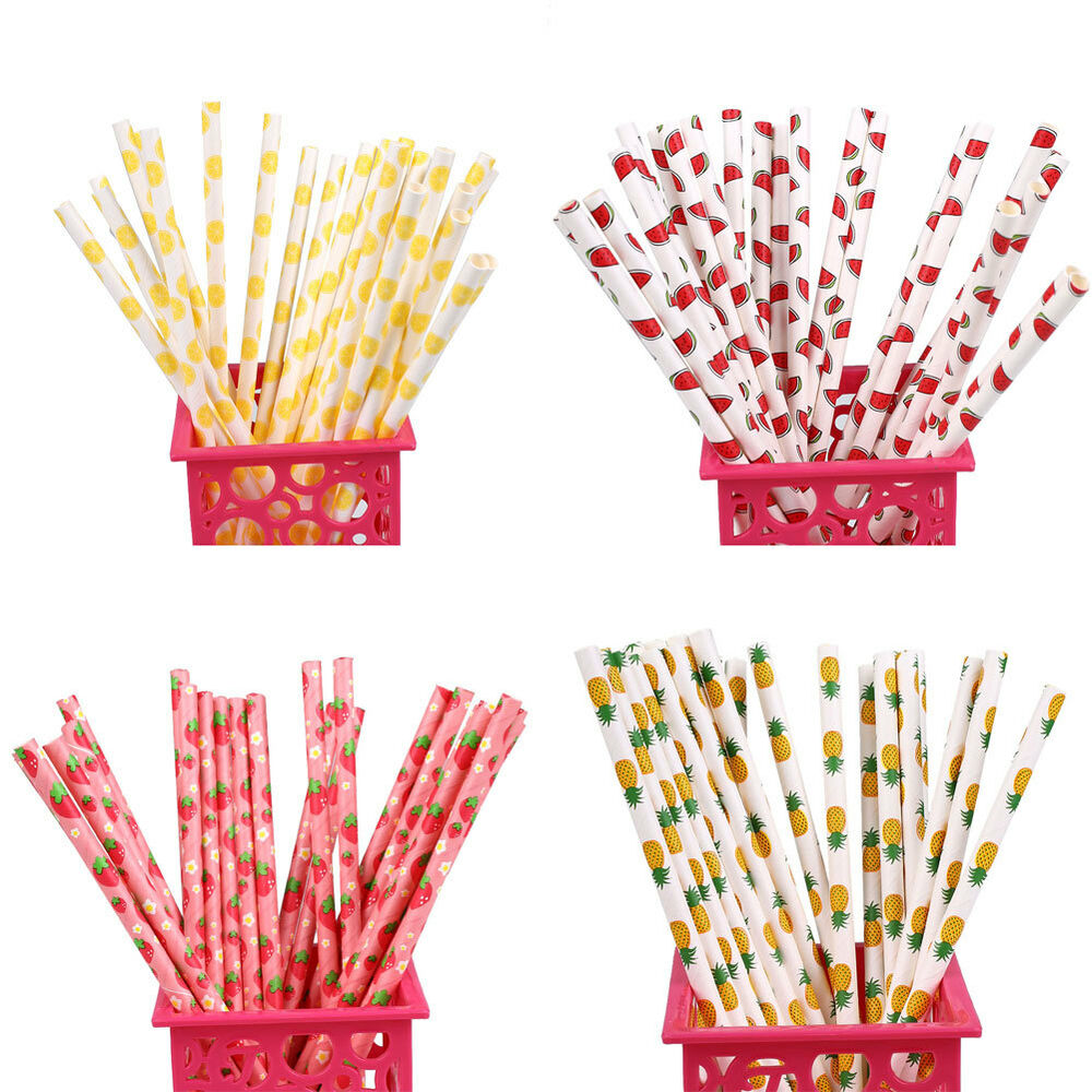 25Pcs Drinking Straw Party Drinks Luau Fun Home