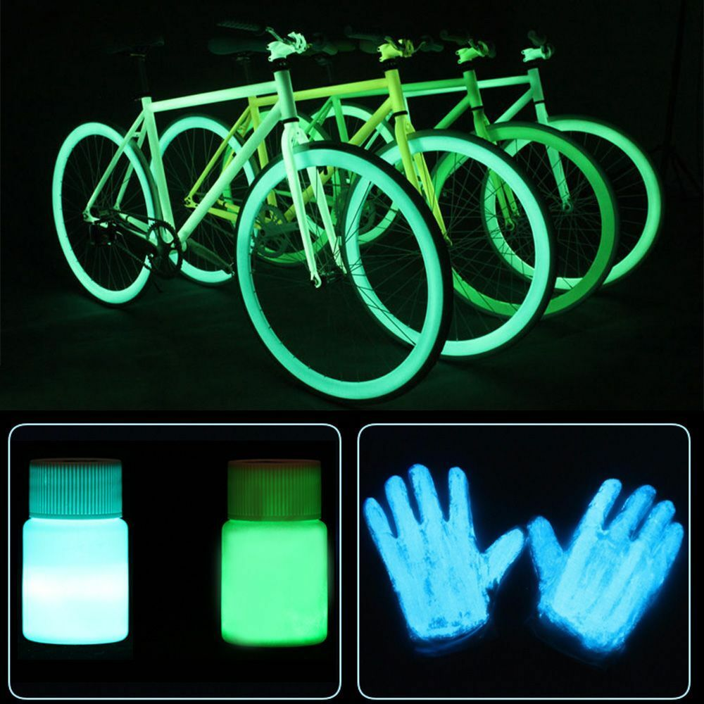 20g glow in the dark acrylic luminous paint bright pigment for Acrylic mural paint supplies