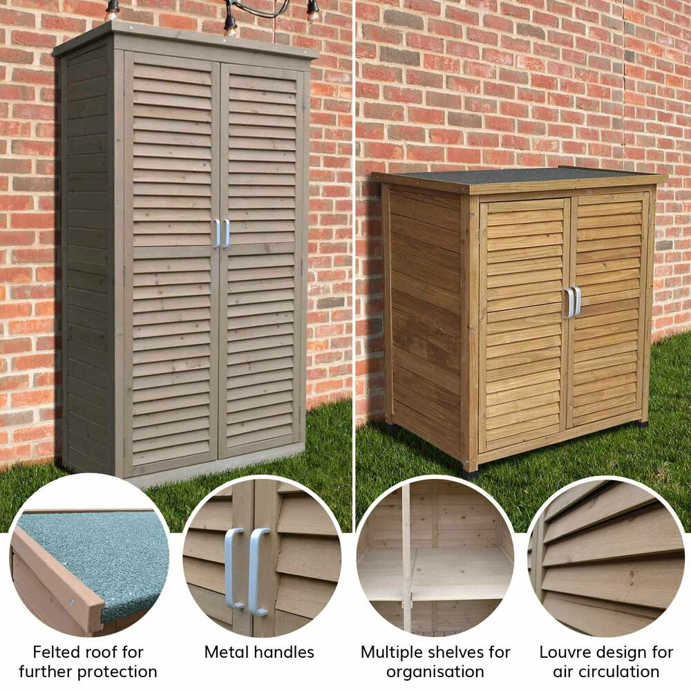 Airwave Wooden Double Door Box Outdoor Garden Storage