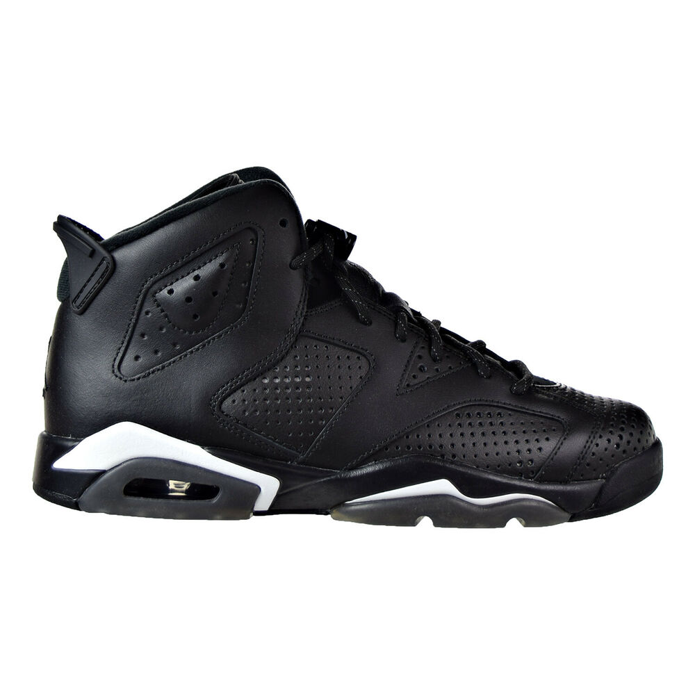 df48e26abb1 Details about Air Jordan 6 Retro BG Big Kid s Shoes Black Black White  384665-020