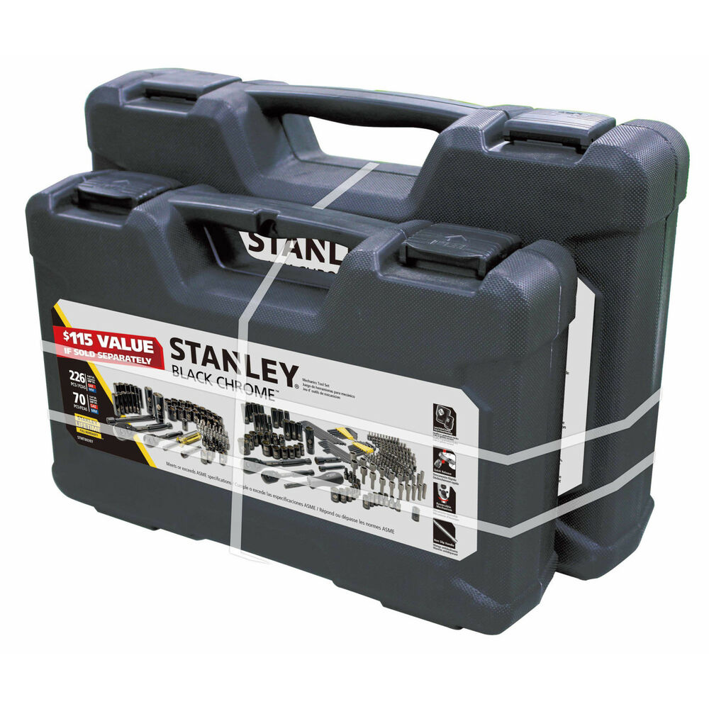 stanley 226 piece 70 piece mechanic tool set box kit home car repair hand tool ebay. Black Bedroom Furniture Sets. Home Design Ideas