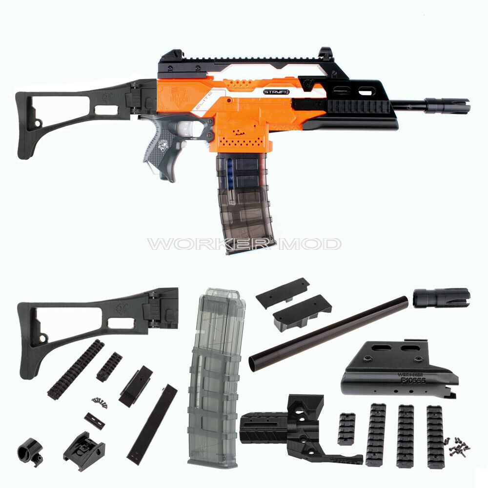 worker mod f10555 3d printed g36 imitation kit custom made combo for nerf stryfe