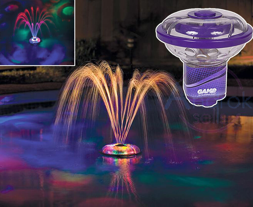 Fountain light show swimming pool underwater floating for Pool light show waikiki