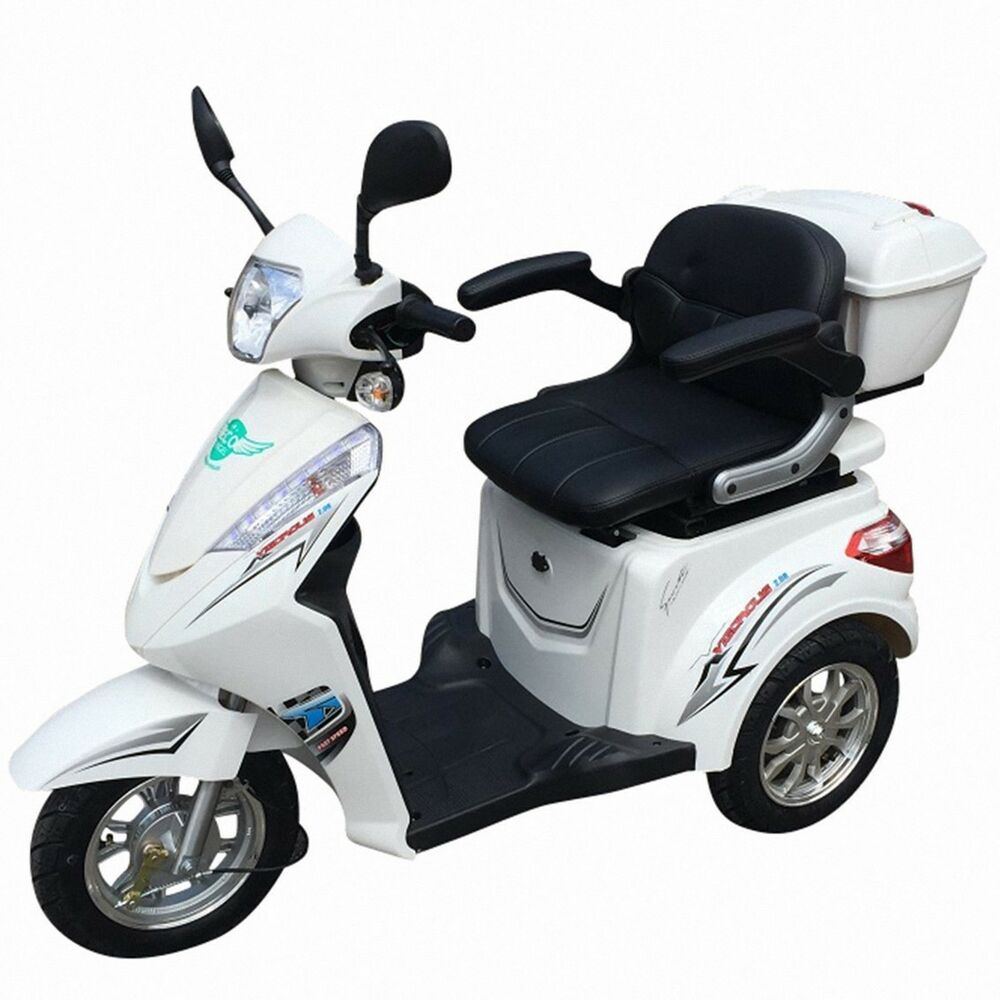 dreirad scooter seniorenmobil eco engel 501 1000 watt elektro mobil wei ebay. Black Bedroom Furniture Sets. Home Design Ideas