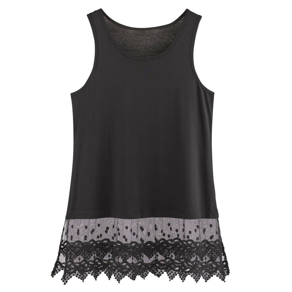 ca737bd2dc0c7 Tank with lace bottom - Tank top with lace bottom - vinted.com. lace ...