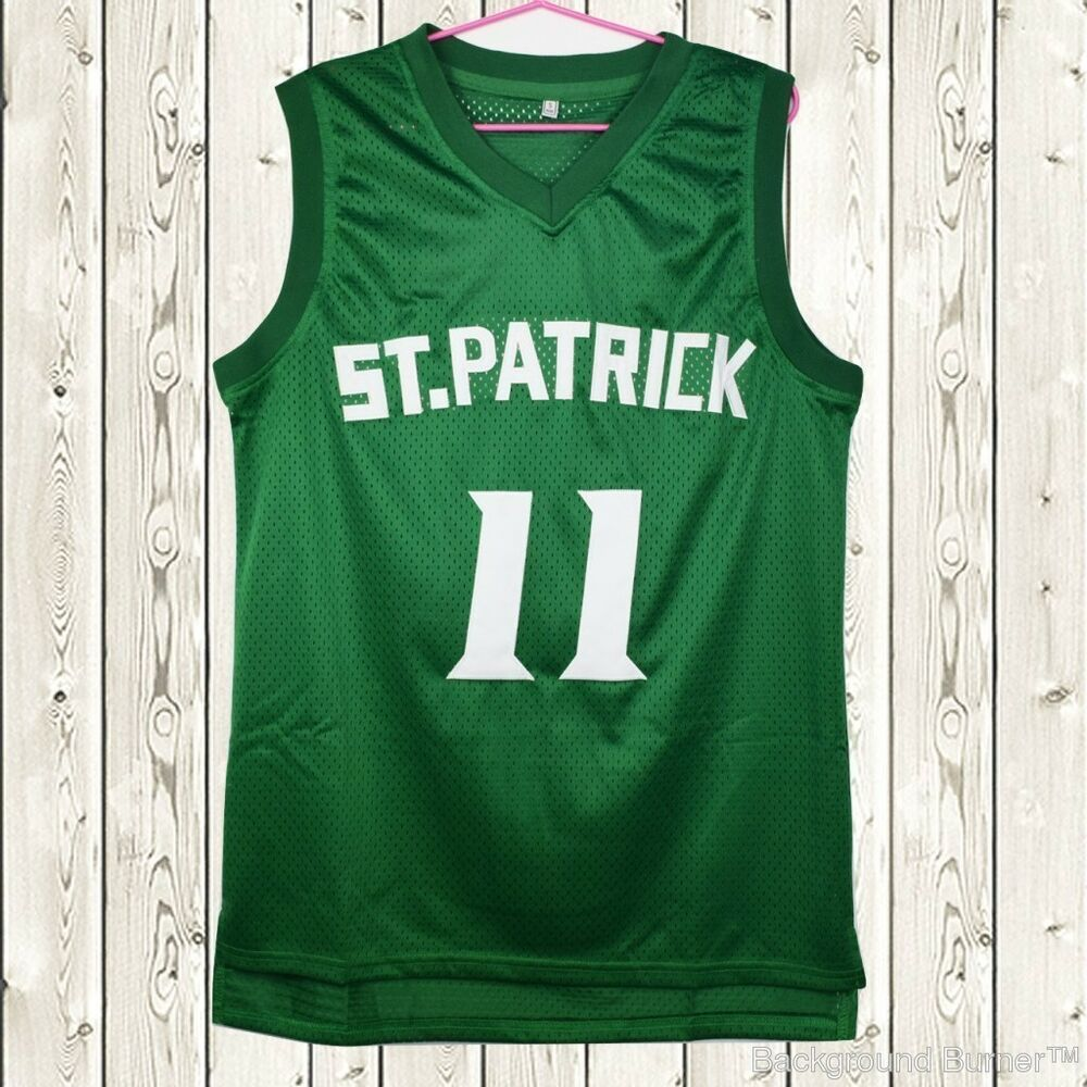 Details about Kyrie Irving  11 St. Patrick High School Stitched Basketball  Jersey Green f59cb71d8