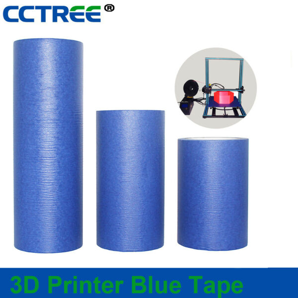 CCTREE 3D Printer Blue Tape High Temperature Masking Tape for Makerbot  CR-10