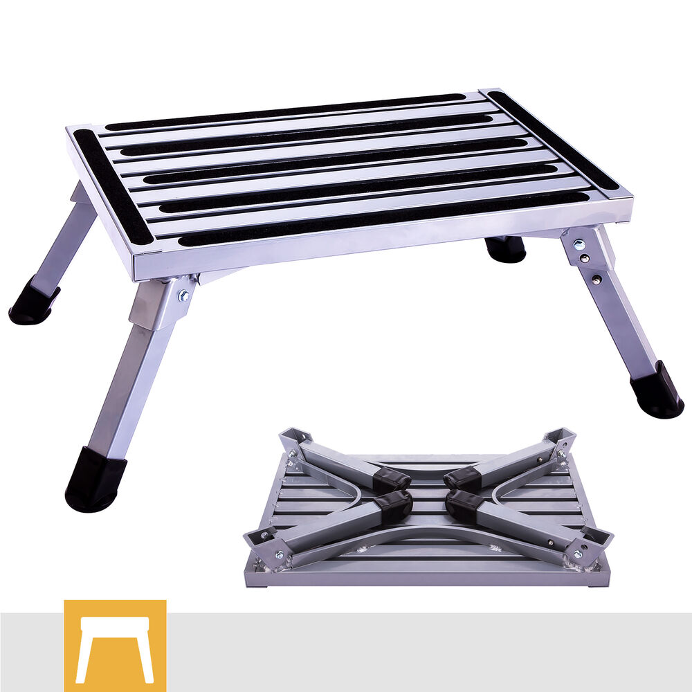 Aluminum Step Stool Folding Drywall Step Up Platform Home