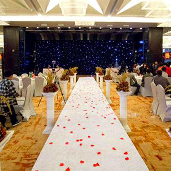 16ftx3ft White Carpet Hollywood Party Decoration Wedding