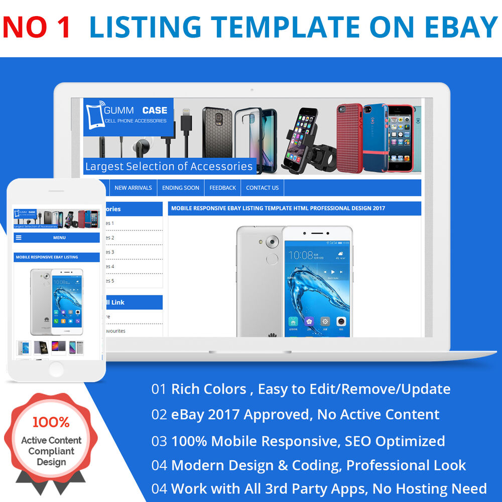 ebay template design software - ebay listing template html professional mobile responsive