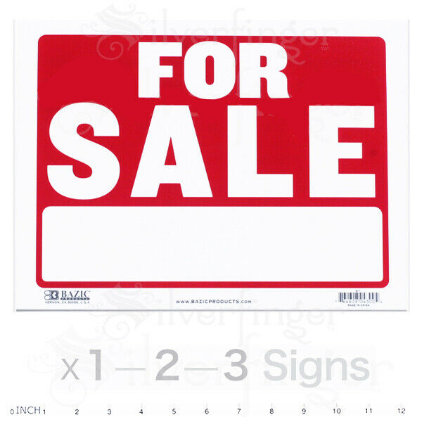 "For Sale Sold Sign: 9x12"" Inch Weatherproof Plastic : Sell"