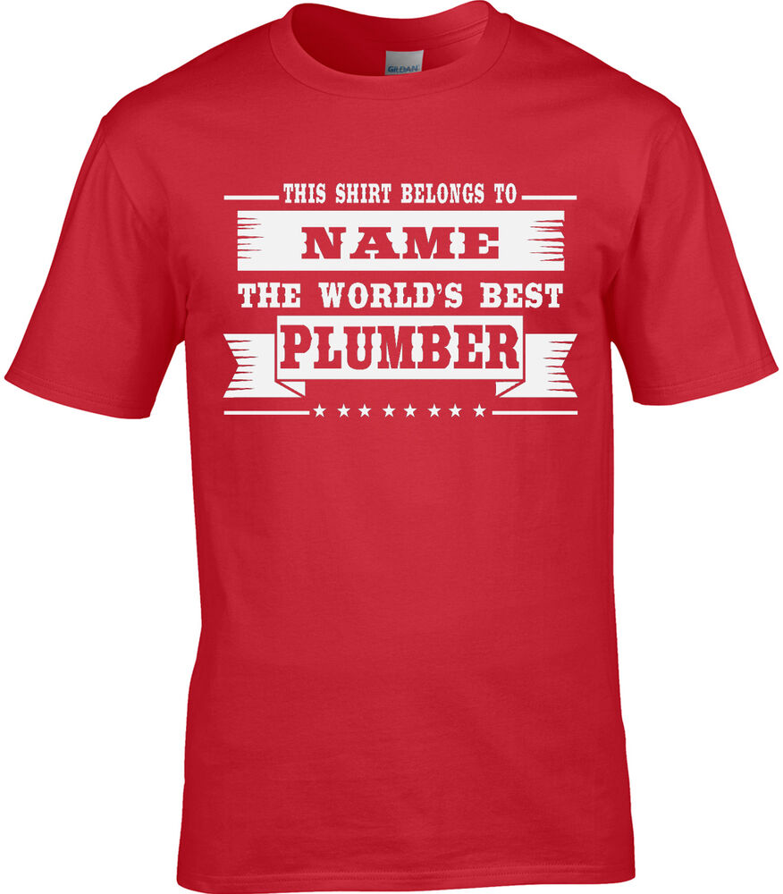 1e8162e1 Details about Plumber Mens Personalised T-Shirt Plumbing Gift Idea World Work  Job Occupation