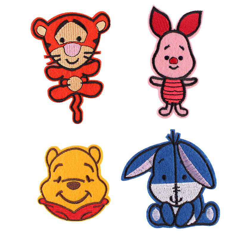 4pcs Winnie The Pooh W/ His Friends Embroidered Iron/Sew