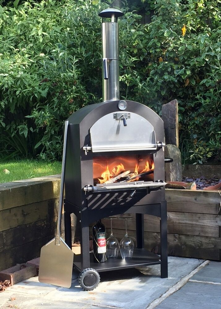 Cove Outdoor Pizza Oven Bbq Smoker Stainless Steel Oven Ebay