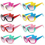 Anti-UV Sunglasses Kids Boys Baby Girls Cartoon 8 Color Goggle Glasses Bow Pop