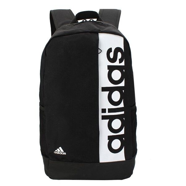 3a1ca704c5 Details about Adidas Linear Backpack Bag Training Rucksack Gym Sports  School Black