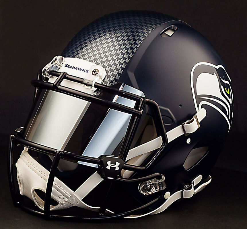 bb82f670284    CUSTOM    SEATTLE SEAHAWKS Full Size NFL Riddell SPEED Football Helmet