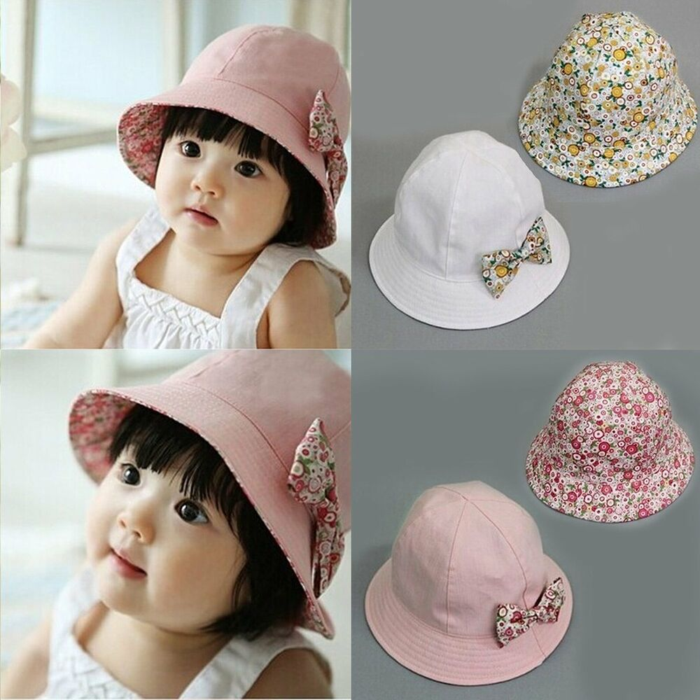 Details about Summer Newborn Baby Girls Kids Princess Infant Flower Sun Cap  Cotton Bucket Hat 5674ce67737